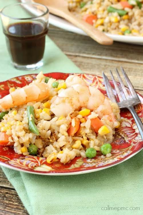 """Shrimp and Vegetable Fried Rice """"This is one of those easy meals..."""