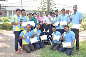 Kuvempu University Inter collegiate Softball  runner-up trophy 2015-16