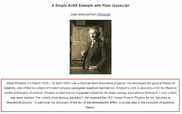 An Example of AJAX With Vanilla JavaScript