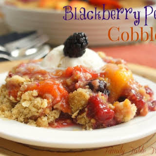 Blackberry Peach Cobbler.