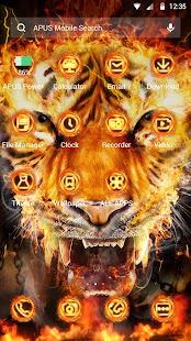 Flame Cool Tiger- APUS Launcher Free Theme - náhled