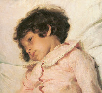 repin, nadja, 1881, child, girl, daughter, relaxed, thoughtful, soft