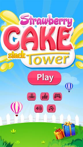 Strawberry Cake - Stack Tower