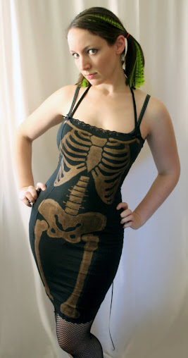 Skeleton Corset Wiggle Dress