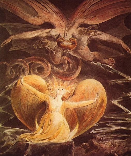 Le Grand Dragon Rouge Et La Femme Vetue De Soleil, William Blake