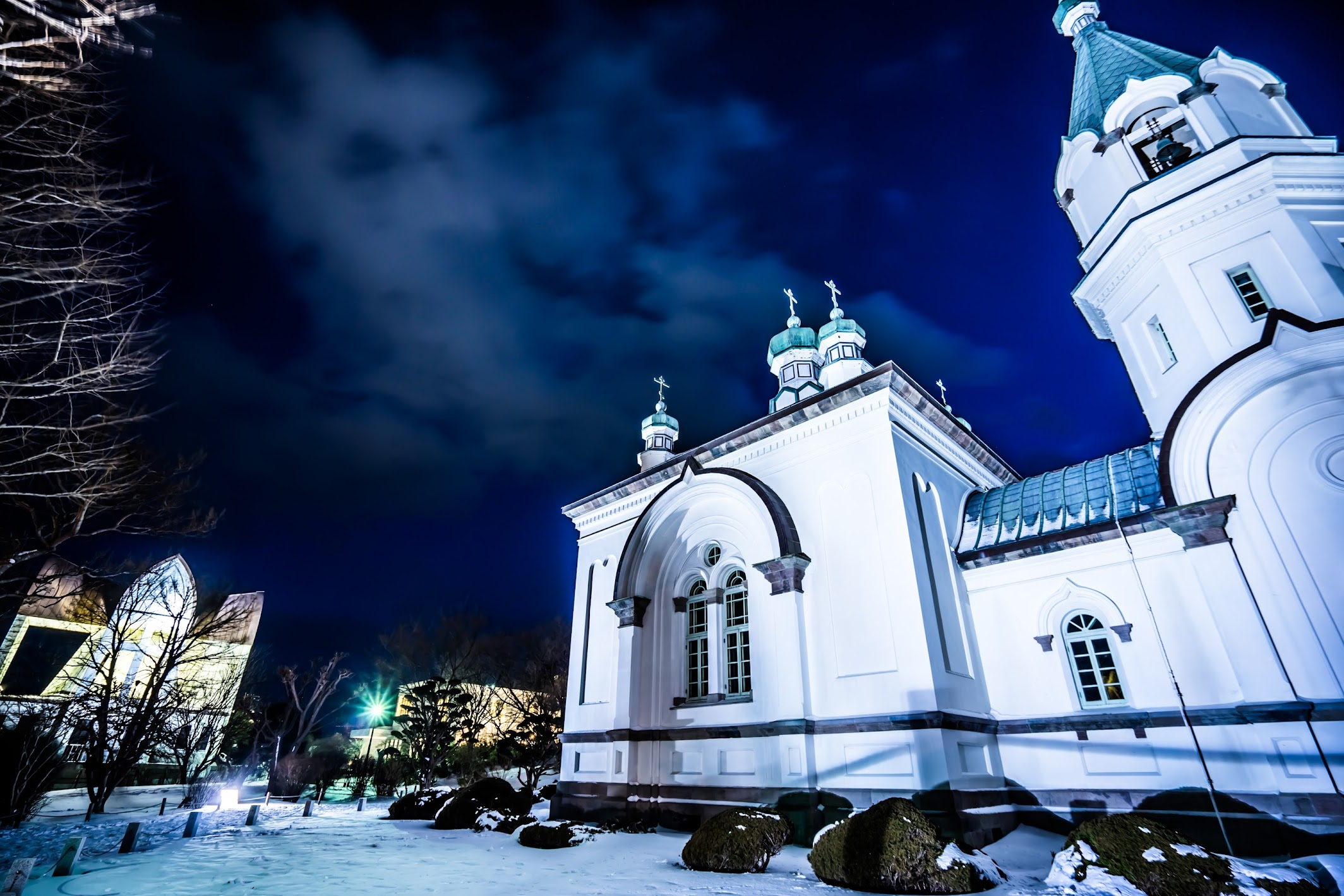 Hakodate Orthodox Church light-up1