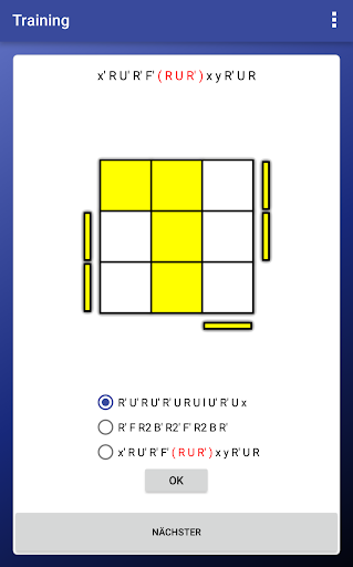 Rubik's Cube OLL/PLL Trainer screenshot