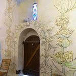 Chapelle Saint-Blaise-des-Simples : fresques (gentiane et menthe de Milly)