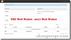 2017 TBC Web Wallet