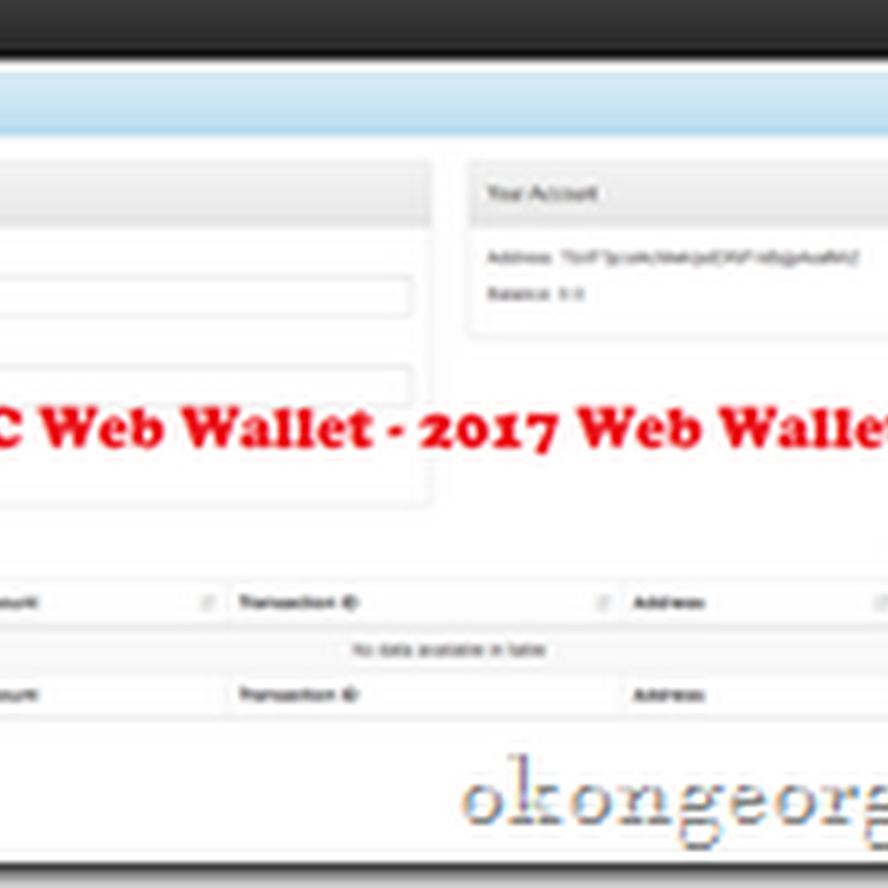 TBC Web Wallet: 2017 new wallet TBC004.net