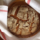 Chleb żytnio-razowy na zakwasie (mąka żytnia 700 + żytnia razowa 2000)