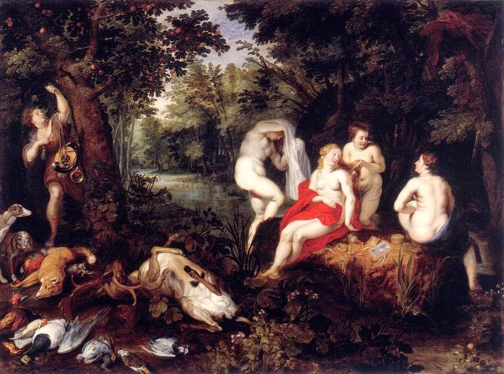 Hendrick van Balen - Diana Resting after the Hunt
