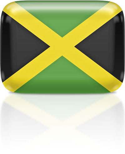 Jamaican flag clipart rectangular