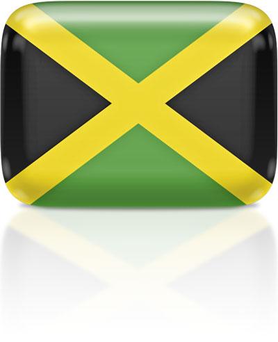 Jamaican flag clipart rectangular