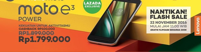 flash sale moto e3 power