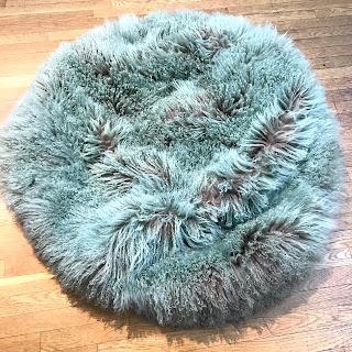 Fiore Mongolian Lamb Fur Bean Bag Chair Case