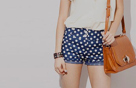 inspiração shorts de bolinhas