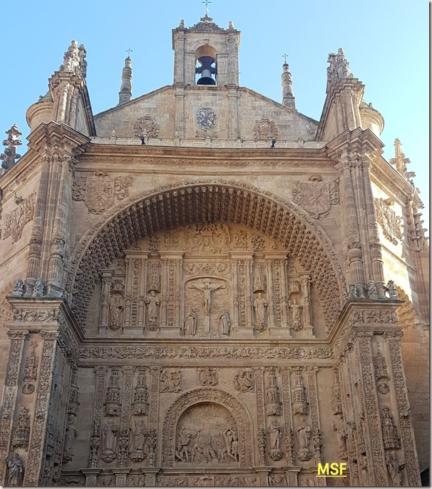 cuerpos superiores portada convento san esteban salamanca