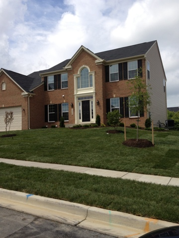 Our mini mansion updated pics of front exterior with sod for Mini mansion homes