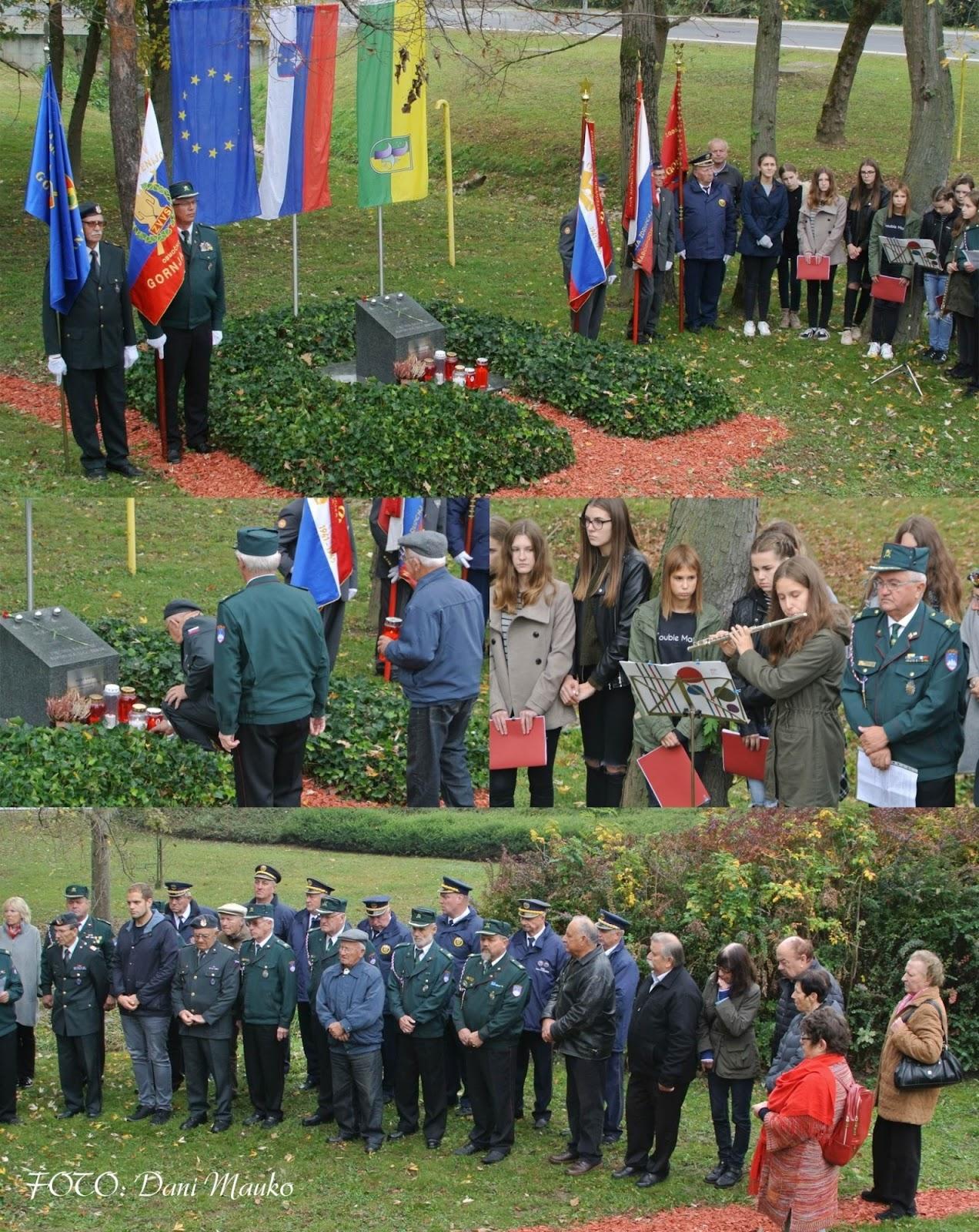 Ob Dnevu suverenosti in Dnevu spomina na mrtve pri spominskem obeležju prižgali svečo, 30. 10. 2017