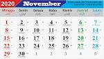 Kalender Bulan November 2020 dan Hari Peringatannya