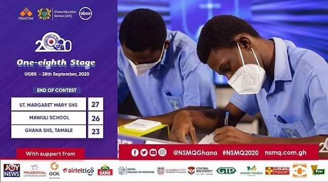 National Science & Math Quiz - As (St. Margret Mary Shs crowned Winners of 1/8 eight Stage).
