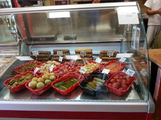 Russian supermarket kebab store