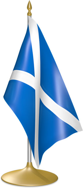Scots table flags - desk flags
