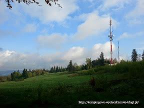 Na zdjęciu wieża telewizyjna na szczycie Baraniak, 10 min do Skopca