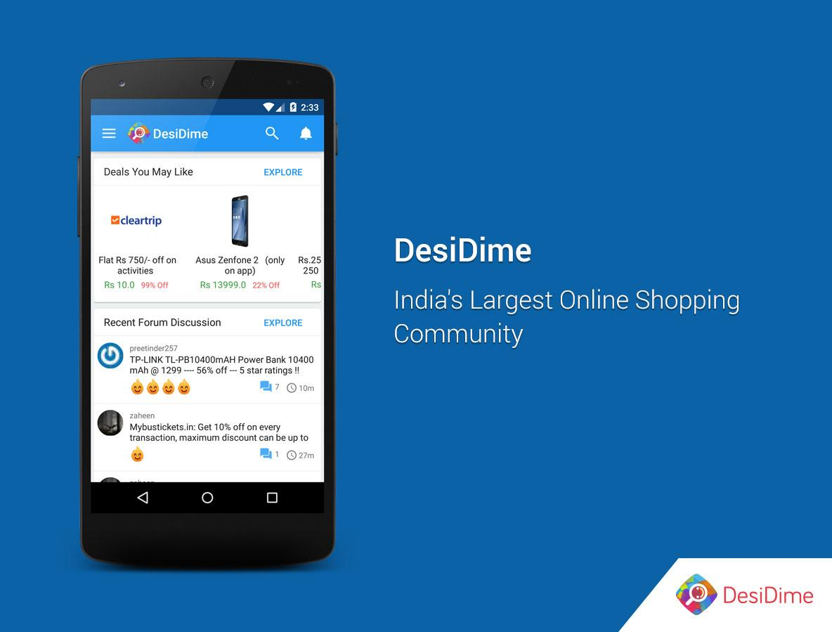 DesiDime Coupons & Offers- screenshot