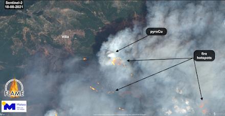 """Ε.Α.Α : Η """"έκρηξη"""" της δασικής πυρκαγιάς στα Βίλια Αττικής"""