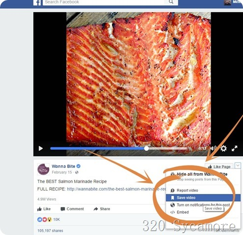 save video tab on facebook