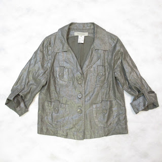Gerard Darel Linen Metallic Jacket
