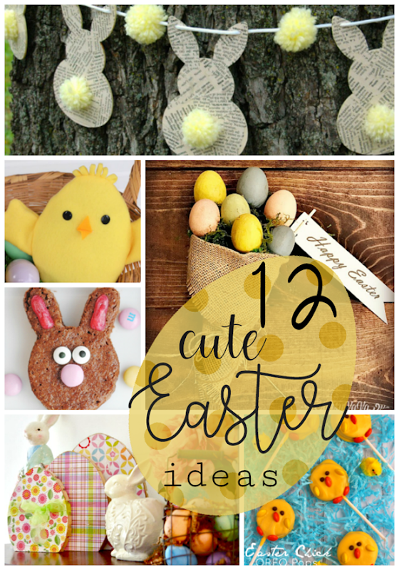 12 Cute Easter Ideas at GingerSnapCrafts.com #Easter #crafts #recipes