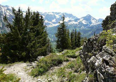Blick zum Nebelhorn Wanderung Imbergerhorn