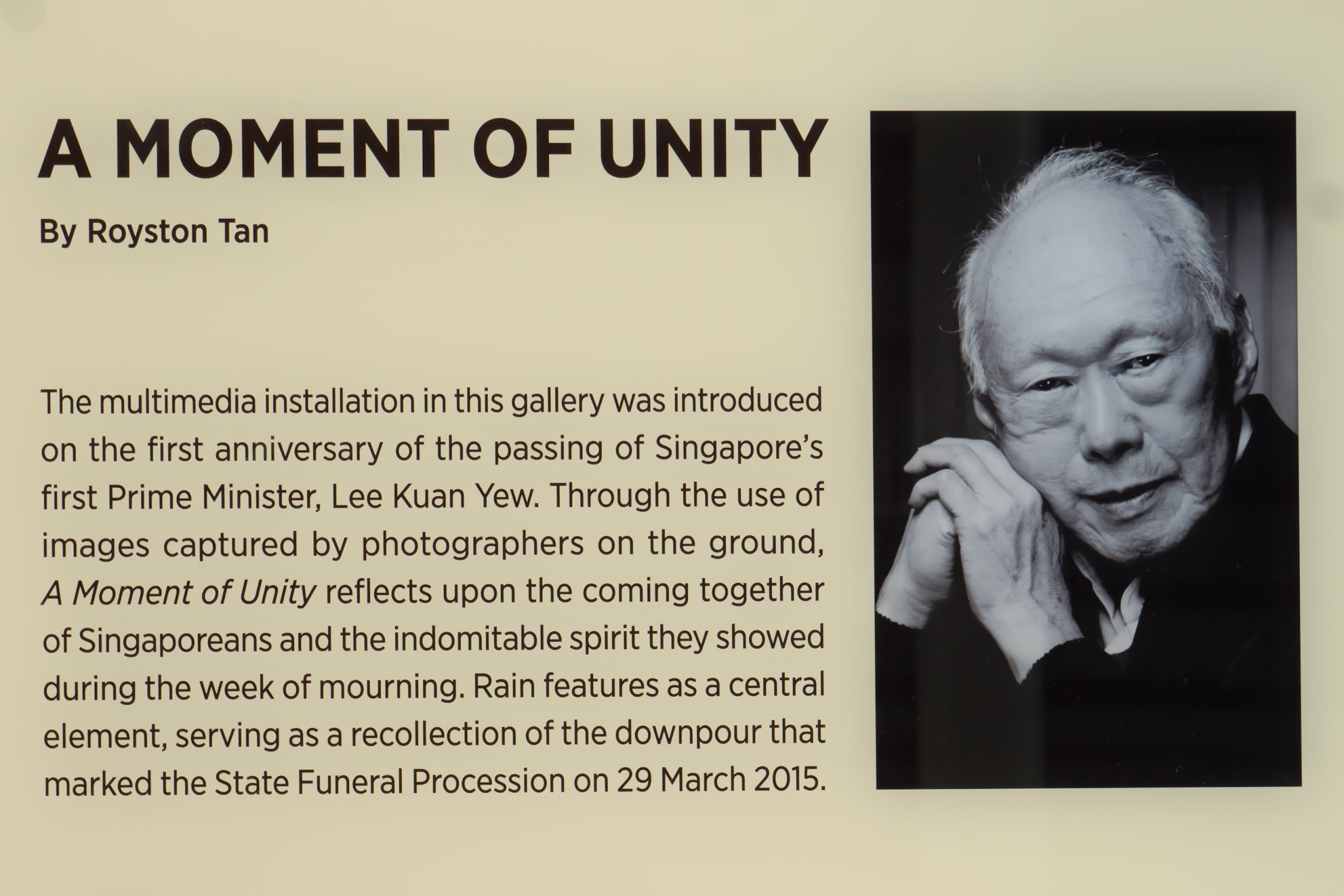 National Museum of Singapore Lee Kuan Yew2