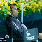 Radek Stepanek watching Petra Kvitova