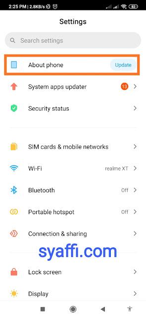 Cara melihat icon warna warni Android Pie