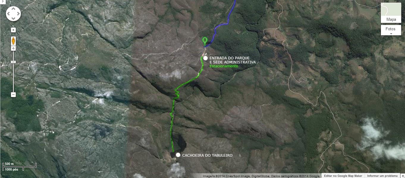 Mapa Cachoeira do Tabuleiro MG Conceição do Mato Dentro