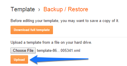 upload-blogger-template-from-backup-xml