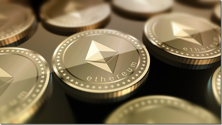 Shiny Ethereum crypto-currency background