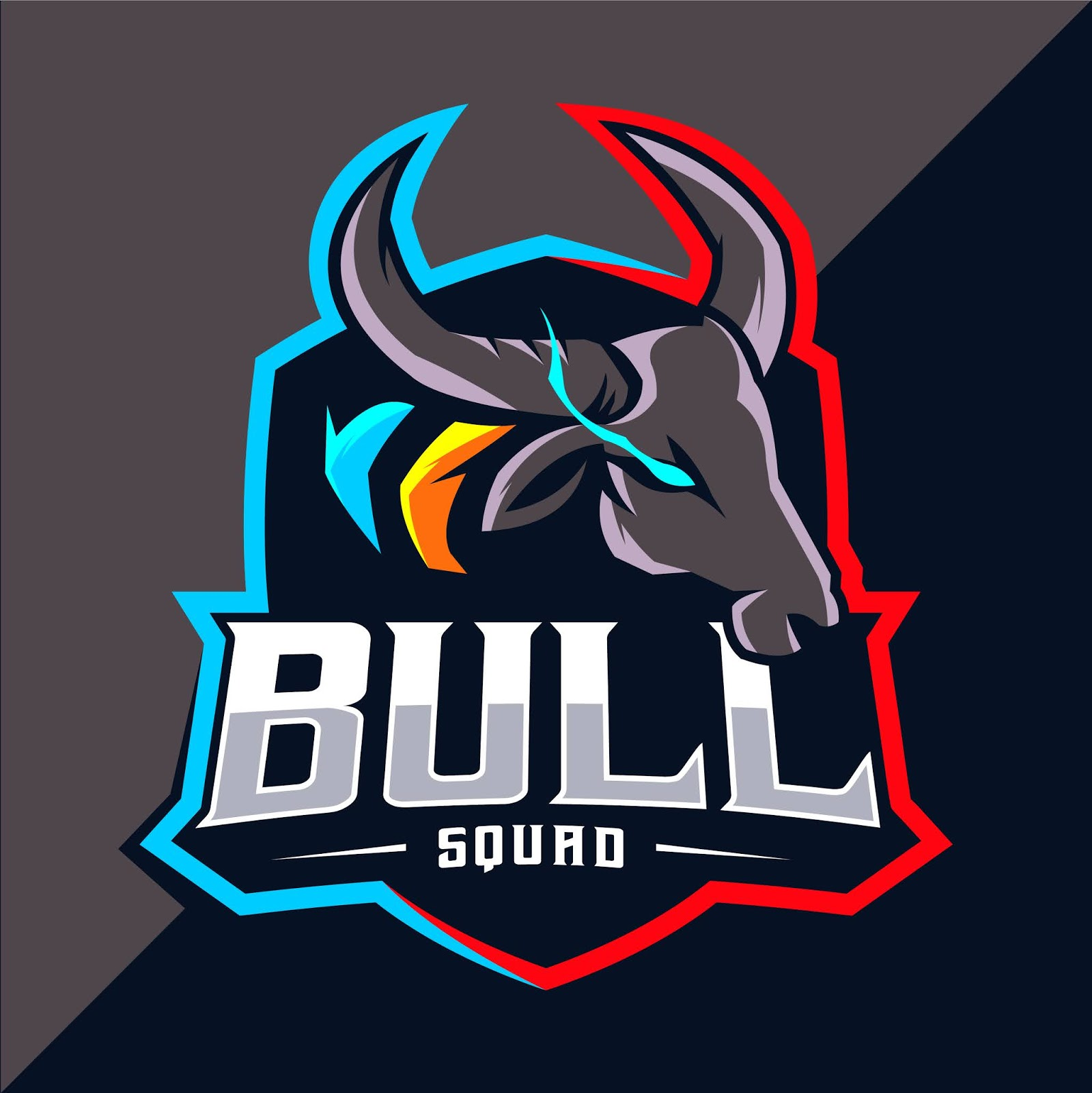 Bull Mascot Esport Logo Funny Free Download Vector CDR, AI, EPS and PNG Formats