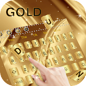 Gold Curve Glitter Keyboard for Phone XS