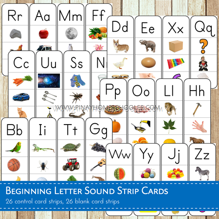 Beginning Letter Sound Strips