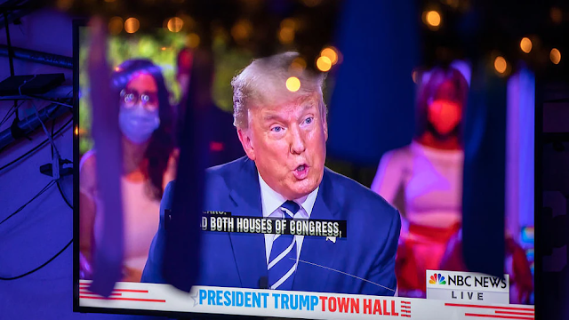 Online Trolls Go After Trump Town Hall 'Nodding Lady,' Urge Her Employees To Quit