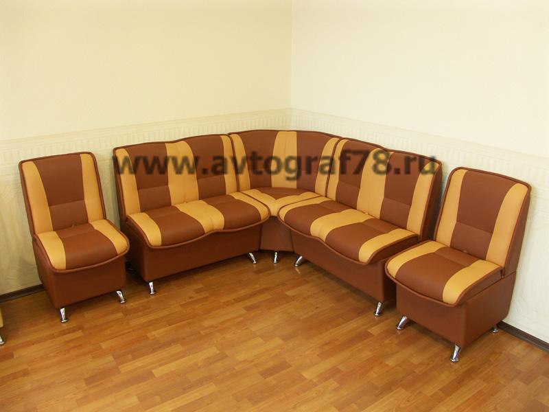 """Модель """"Фантазия"""" набор: кресло 450мм (2шт), диван 900мм (2шт), угловая секция (Oregon 14-07)"""
