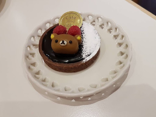 Chocolate tart from Rilakkuma Cafe in Taipei Taiwan