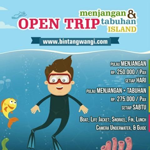 Open Trip Pulau Menjangan Bali - Pulau Tabuhan Murah