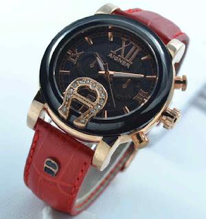 Jual jam tangan Aigner romawi black rosegold