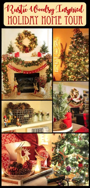 Rustic Lodge Style Holiday Home Tour Rustic and Vintage with a touch of the outdoors I love it